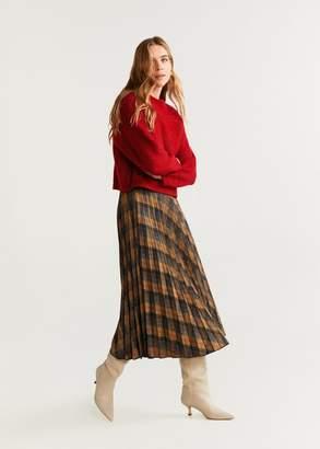MANGO Chunky-knit sweater burgundy - XS - Women