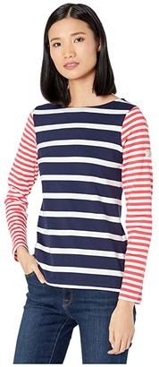 Joules Harbour (Cream/Red/Blue Stripe) Women's Blouse