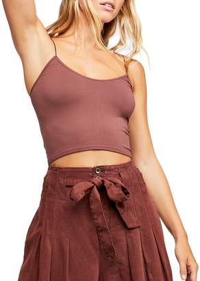 Free People Seamless Skinny-Strap Crop Camisole