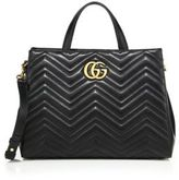 Gucci GG 2.0 Marmont Matelasse Leather Top-Handle Tote