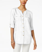 JM Collection Pocketed Button-Back Shirt, Only at Macy's
