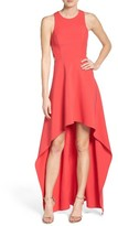 BCBGMAXAZRIA Women's 'Rosalyn' Cutout High/low Crepe Gown