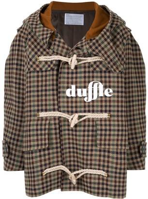 Kolor Checked Duffle Coat