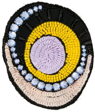 Emilio Pucci Round Embellished Brooch