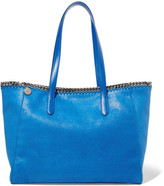 Stella McCartney The Falabella Faux Brushed-leather Tote - Blue