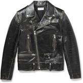 Saint Laurent - Distressed Leather Biker Jacket