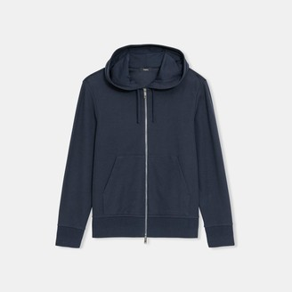 Theory Zip Hoodie in Waffle Knit Organic Cotton