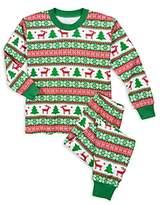 Sara's Prints Unisex Fair IslePrint Holiday Pajama Set - Little Kid
