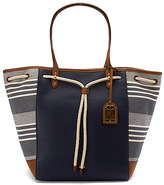 Lauren Ralph Lauren Women's Oxford Chambray Stripe Large Tote