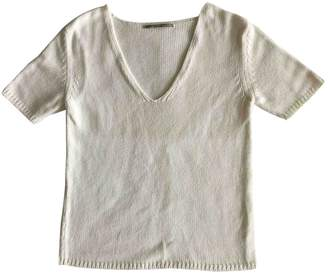 New York Industrie White Cotton Top for Women