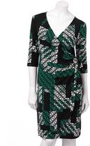 Apt. 9 chevron faux-wrap dress - women's