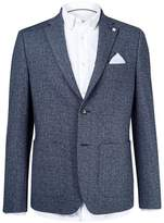 Burton Mens Blue Chambray Blazer