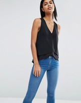 Asos Double Layer Tank with Dip Hem