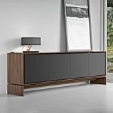 Modloft Barnes Buffet Table Black Color: Walnut/Graphite