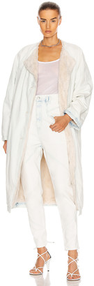 Isabel Marant Kaleia Coat in Light Blue | FWRD