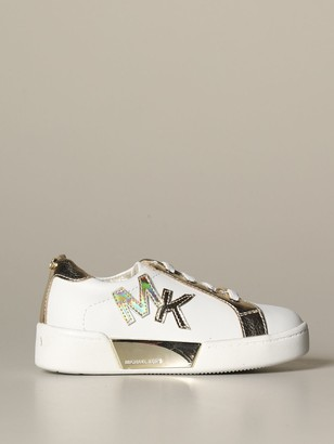 MICHAEL Michael Kors Sneakers In Smooth And Laminated Leather