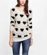 Express Heart Jacquard Tunic Sweater