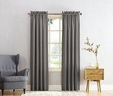 Sun Zero Barrow Energy Efficient Rod Pocket Curtain Panel, 54 x 63 inch, Steel Gray
