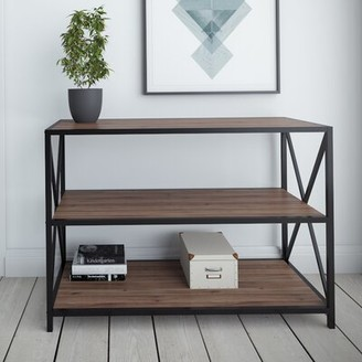 Williston Forge Altom X-Frame Metal Industrial Console Table