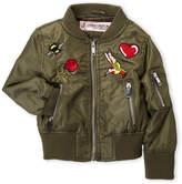 Urban Republic Toddler Girls) Patchwork Bomber Jacket