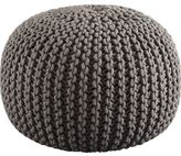 Knitted grey pouf $79.95