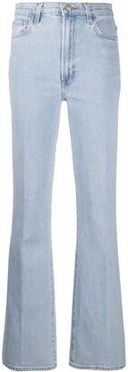 J Brand Mid-Rise Straight Jeans
