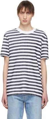 BOSS Navy and White Tiburt T-Shirt