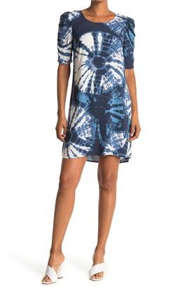 MSK Tie Dye Puff Sleeve Dress
