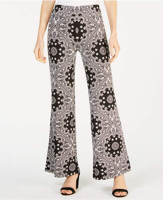 John Paul Richard Petite Printed Wide-Leg Pants