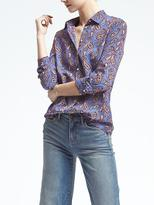 Banana Republic Dillon-Fit Paisley Blouse