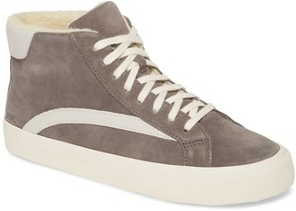 Madewell Sidewalk High-Top Faux-Shearling Lined Sneaker