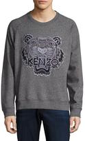 Kenzo Logo Embroidered Crewneck Sweatshirt