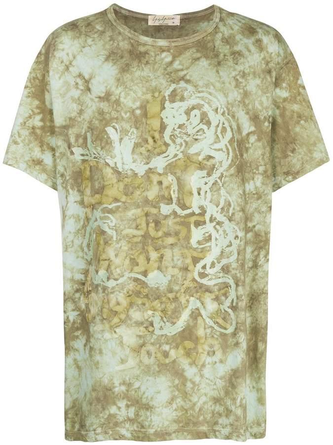 Yohji Yamamoto tie-dye short-sleeve T-shirt
