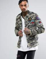Replay Camo Badge Jacket