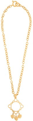 Chanel Pre Owned 1995 CC logo charms pendant necklace