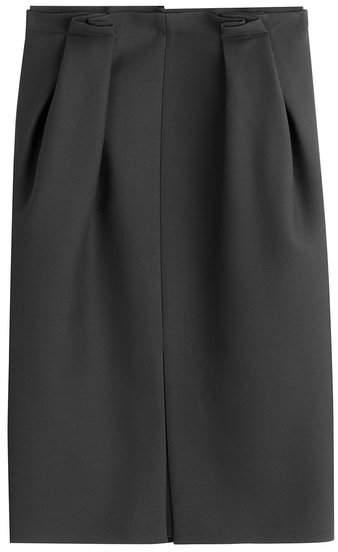 Alexander McQueen Wool Skirt with Silk