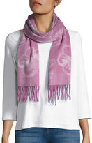 Lord & Taylor Reversible Fringed Floral Cashmere Scarf