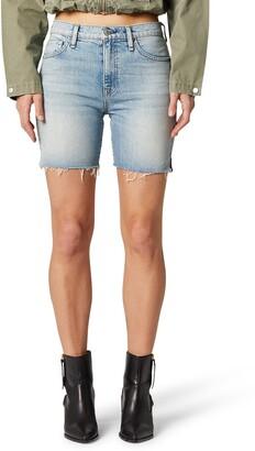 Hudson Hana High Waist Cutoff Denim Biker Shorts