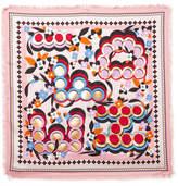Fendi Printed Silk-twill Scarf - Pink