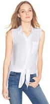 White House Black Market Sleeveless Tie-Up Blouse