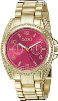 XOXO Women's XO5805 Analog Display Analog Quartz Gold Watch
