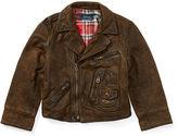 Ralph Lauren 2-7 Leather Moto Jacket