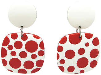 One Kings Lane Vintage Red & White Polka Dot Pendulum Earrings - Thanks for the Memories