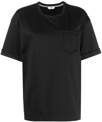 Fendi logo-detail patch-pocket T-shirt