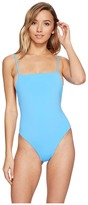 Mara Hoffman Solid High Cut One-Piece Women's Swimsuits One Piece