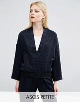 Asos Lux Pajama Bomber in Jacquard Co-ord