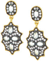 Freida Rothman CZ Crystal Shield Drop Earrings