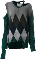 Ballantyne distressed diamond sweater