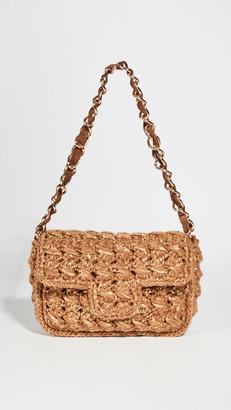 Caterina Bertini Tan Woven Bag