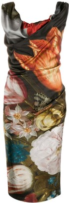 Vivienne Westwood Ginnie Bosschaert-print midi dress
